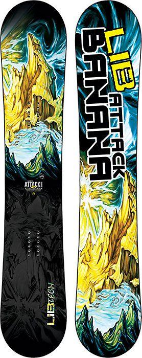 Lib Tech Attack Banana Snowboard Men S Free Shipping Christysports Com Snowboard Snowboarding Men Snowboard Design