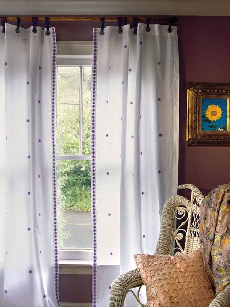 Neat Idea For A Curtain Rod And D With Grommets Designer Less