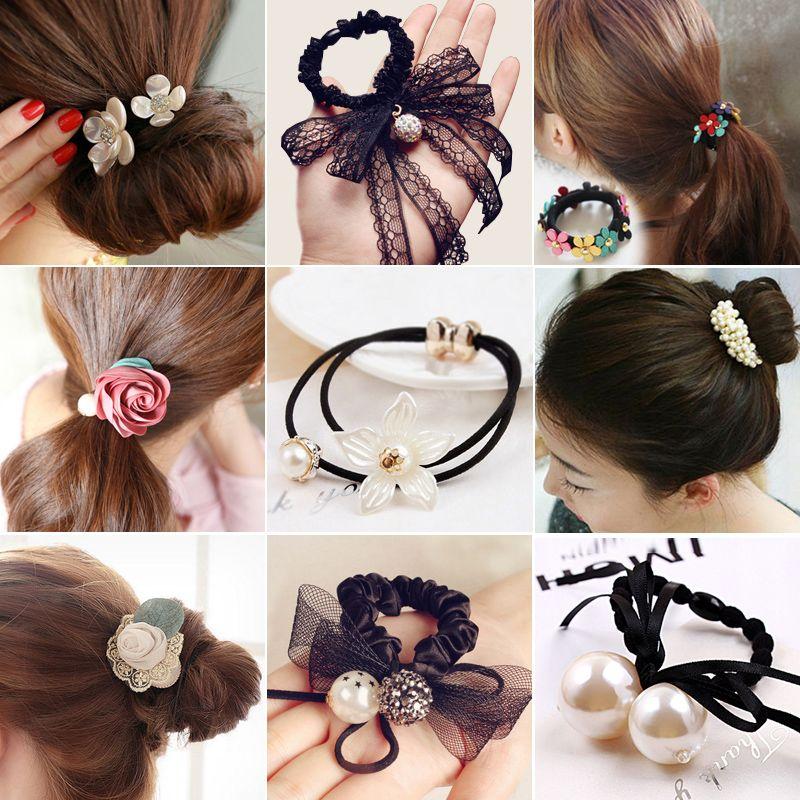 47ca170bb29b ... accesorios headwear para las mujeres ornamentos al por mayor. korean  fashion women girls elastic hair rubber bands ties headwear ring rope  accessories ...