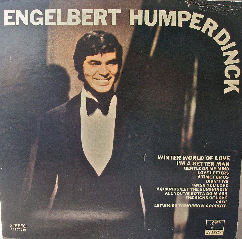 Engelbert Humperdinck Winter World Of Love 1969 Vinyl Album Cover Art Love Cafe Album Covers