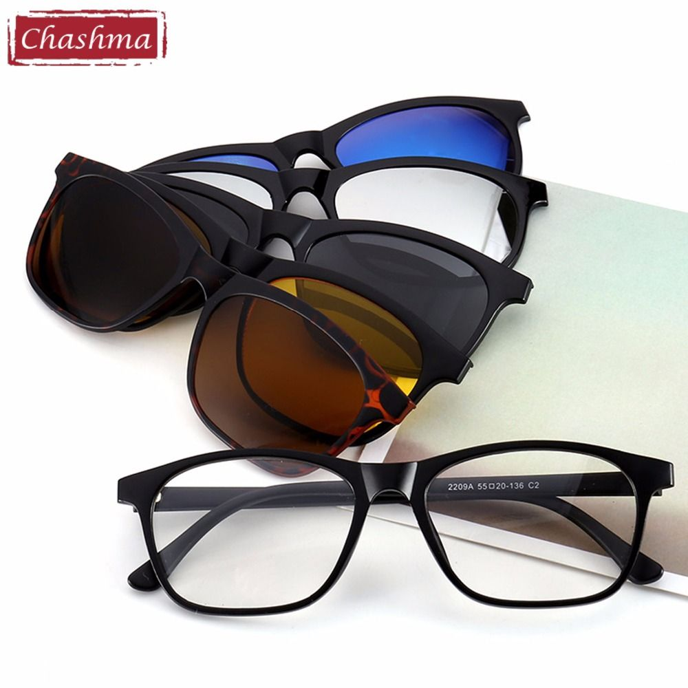 67fb68ab79 Chashma Chashma Brand Clip Sun Glasses Optical Glasses Frame with Clip  Polarized Sunglasses for Women and Men