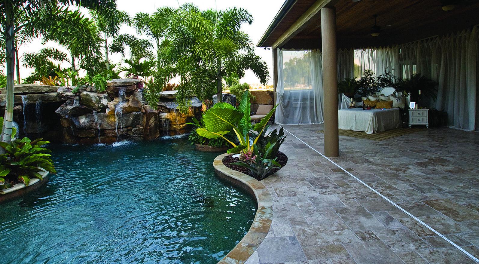 Outdoor Bedroom by Lagoon Pool | Bedroom Designs | Pinterest ...