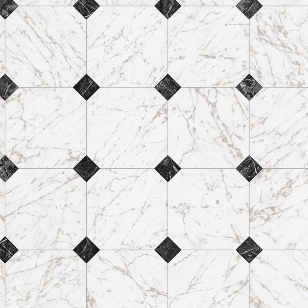 Trafficmaster Black And White Marble Paver Residential Vinyl Sheet Sold By 12 Ft Wide X Custom Length C1100405k509g14 The Home Depot Vinyl Sheet Flooring Black And White Marble White Vinyl Flooring