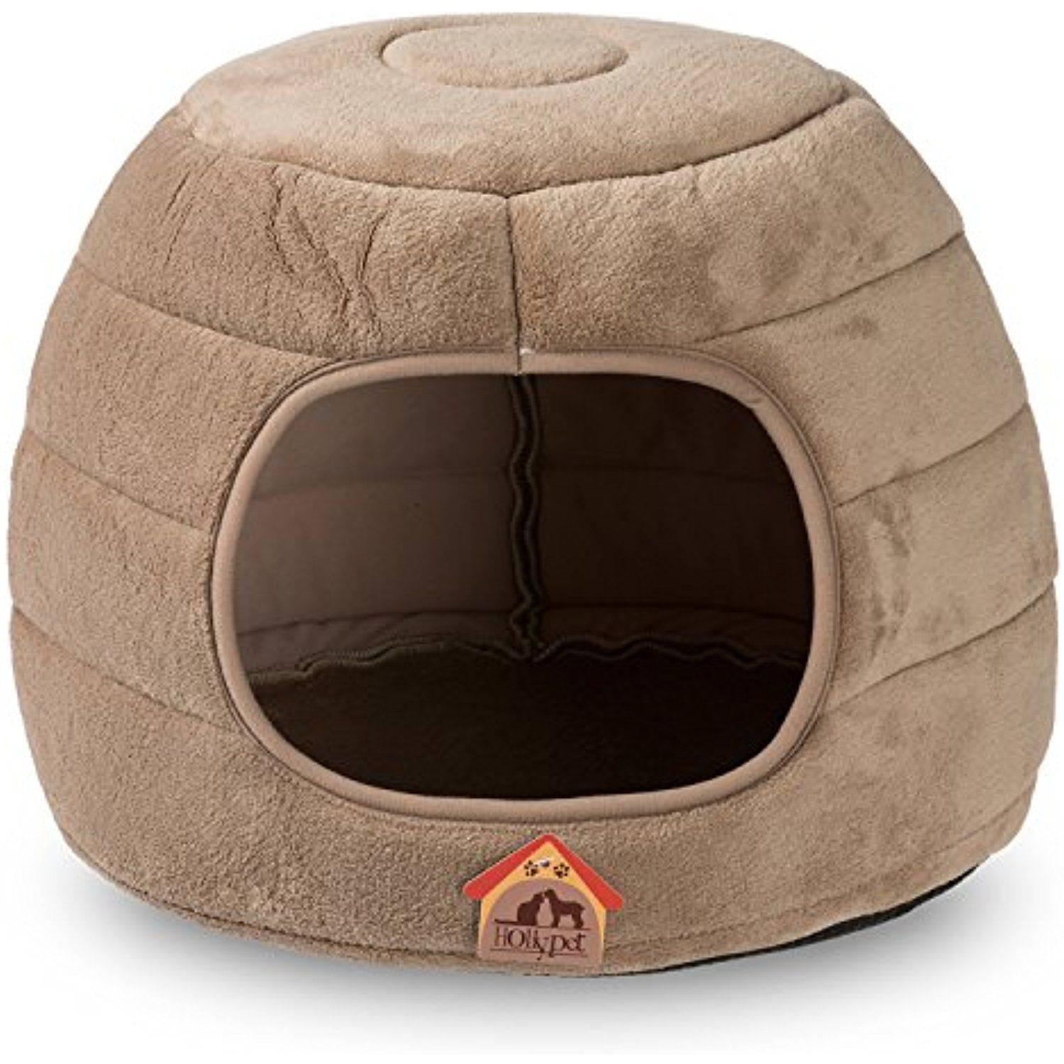 Hollypet 16 A 16 A 12 5 Coral Velvet Self Warming 2 In 1 Foldable Cave Shape High Elastic Foam Pet Cat Bed For Cats And Small Dogs Dog Bed Small Dogs Cats