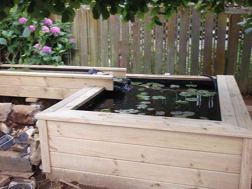 Above ground pond idea aquaponics pinterest pond for Above ground koi fish pond