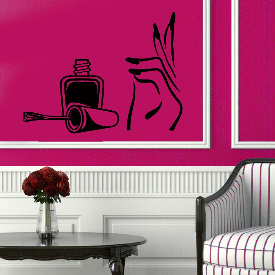 Salon Wall Decor wall decals manicure nails beauty salon vinyl sticker murals wall