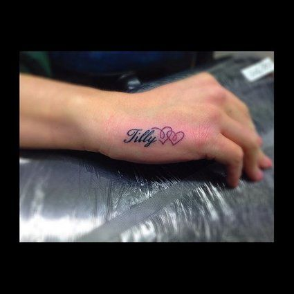 Baby Name Tattoos Are Beautiful Tributes To Your Children Whether You Have One Or Many They Will Forever Remind You Ho Name Tattoos Baby Name Tattoos Tattoos