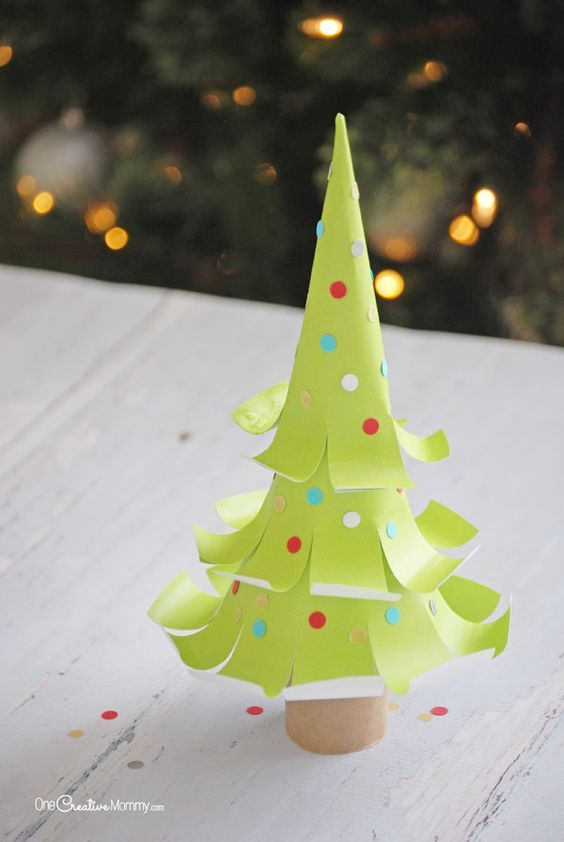 The Cutest Paper Christmas Trees The GROUP BOARD on Pinterest