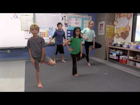 yoga in the classroom k4 standing sequence  youtube