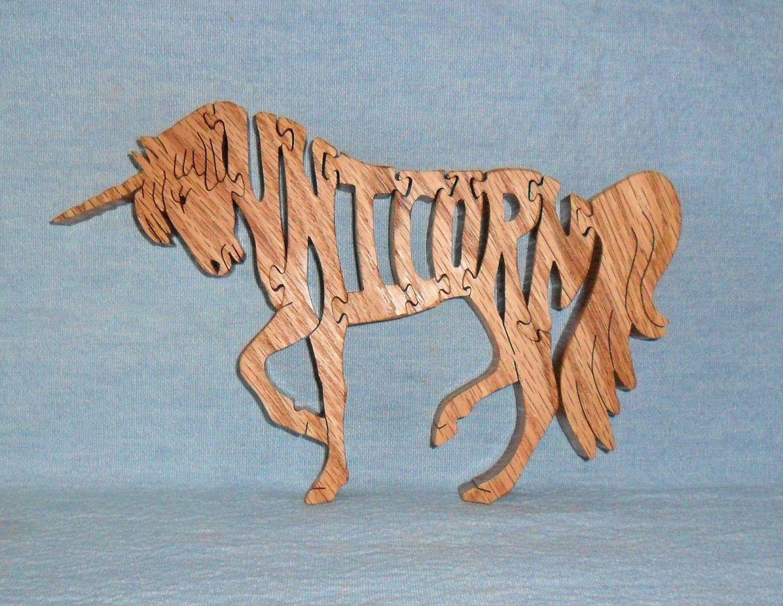 Unicorn Wooden Puzzle.via Etsy.