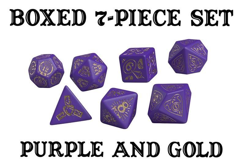 Divination dice set designed by doug wilson and