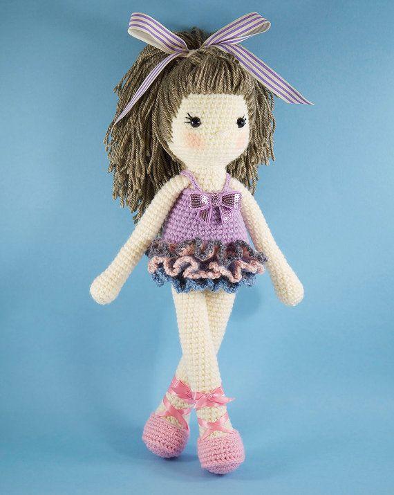 Amigurumi crochet doll Pretty girl doll in a by BubblesAndBongo ♡