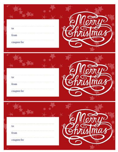 Download Our Printable Christmas Coupons Templates In MS Word To  Microsoft Office Coupon Template