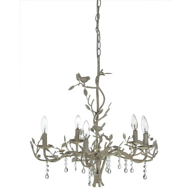 Metal Chandelier With Birds And Crystals From Creative Co Op
