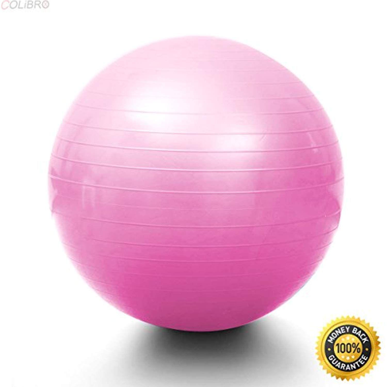 Yoga Ball 65 cm Exercise Gymnastic Fitness Pilates Balance w//Air Pump Blue//Pink