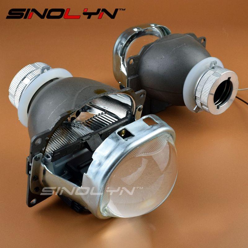 Car Styling Q5 Hid Square Bi Xenon Lens Projector Headlight Full Metal Headlamp Xenon Lenses Use D2s D2h Bulbs Projector Headlights Car Lights Bulb