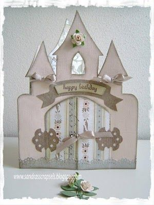 Sandra's Scrap Sels ...: Castle card with template