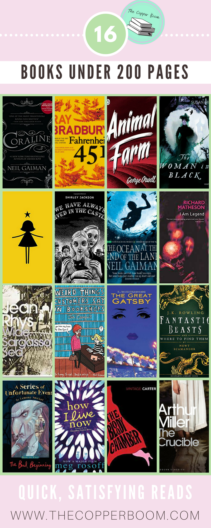Just 16 Satisfying Reads Under 200 Pages Books Pinterest