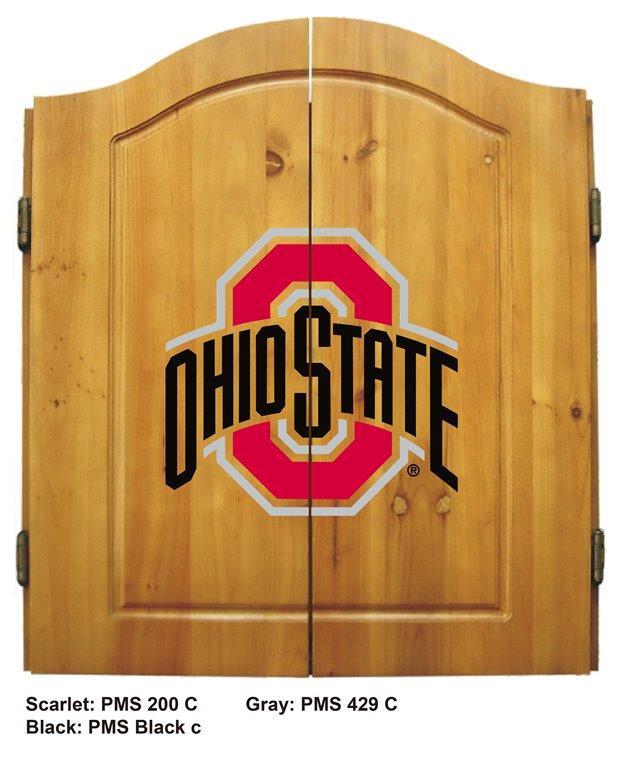 Ohio State University Complete Dart Cabinet