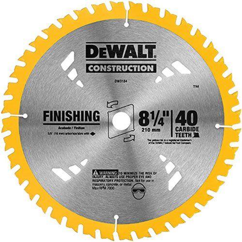 Dewalt Dw3184 Series 20 8 1 4 Inch 40 Tooth Atb Thin Kerf Saw Blade With 5 8 Inch Arbor Circular Saw Blades Dewalt Saw Blade