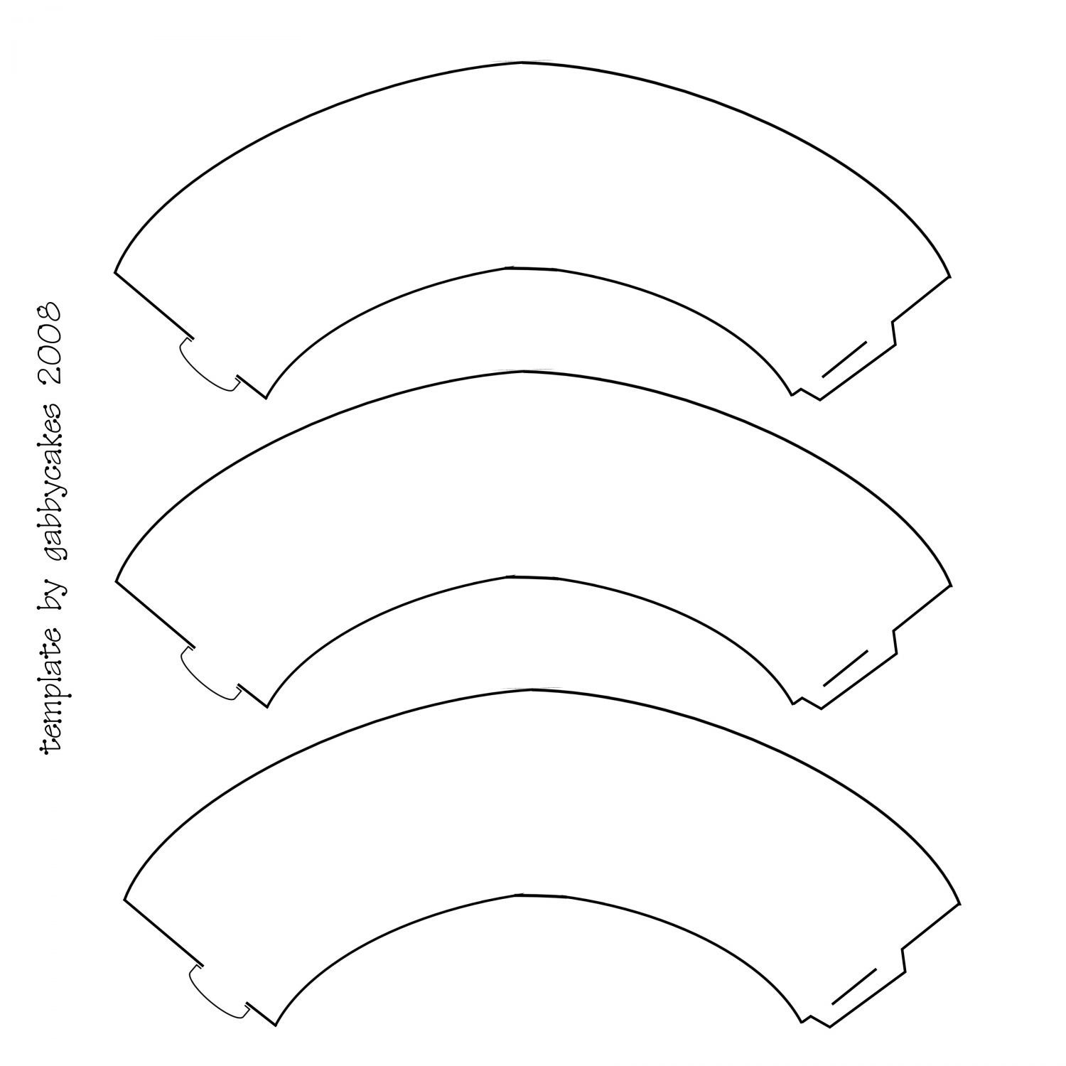 Gabbycakes Cupcake Collars for 12 x 12 sheet - Here is the template ...