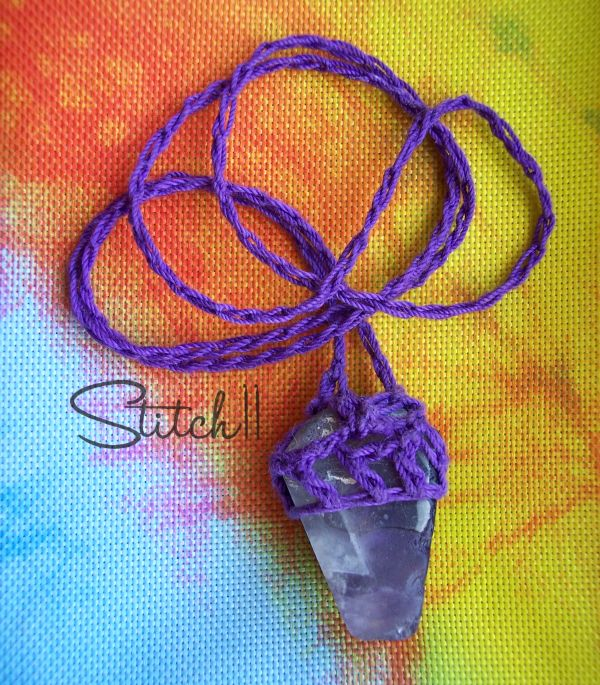 Geodes - How to Turn a Rock Into a Necklace - Stitch11