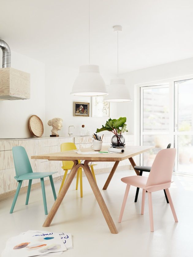 Lovely Chairs In Pastel Dining Room Design Pastel Interior