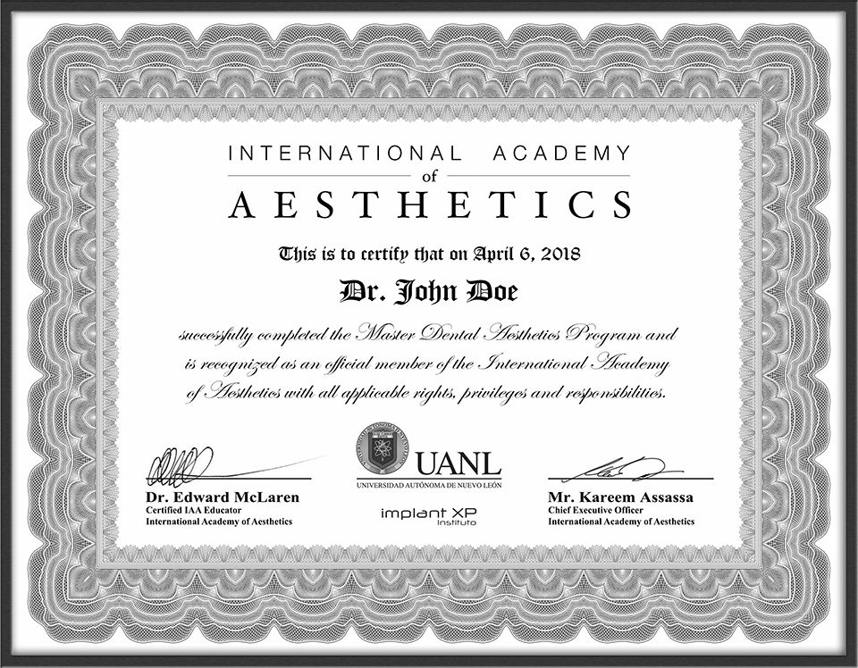 Premier Online Master Dental Aesthetics Programs By Dr Edward Mclaren And Iaa Join Today And Begin Y Dental Aesthetics Esthetic Dentistry Aesthetic Dentistry