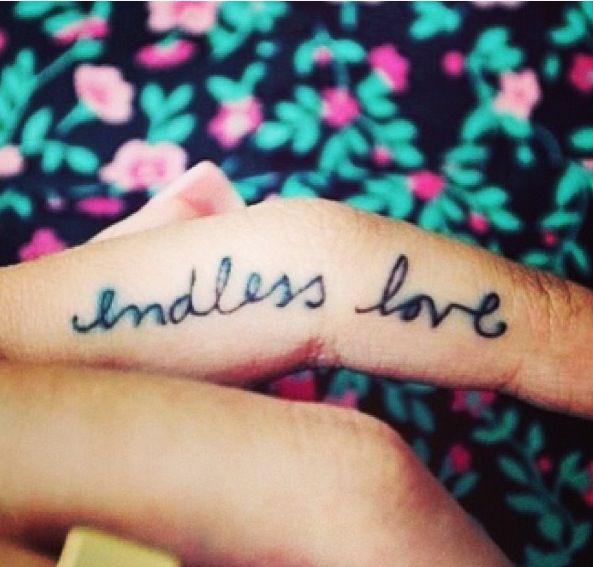 5b331ca82af7b Endless Love Finger Tattoo Tattoo Pinterest Tattoos Girly