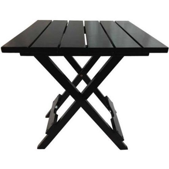 Black Square Folding Table 17 38 X 17 38 X 19 75 Inches Multi Use