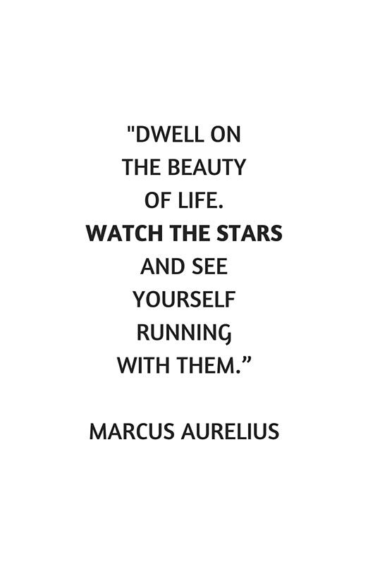 'Stoic Philosophy Quote - Dwell on the beauty in life ...