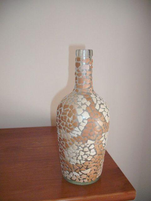Altered Art Bottles With Egg Shells