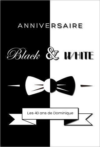 Carte Anniversaire Noir Et Blanc.Epingle Sur Black And White