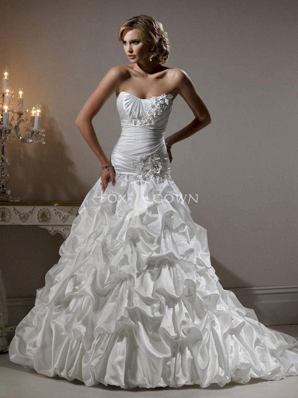 Sweetheart strapless wedding dress   Most Beautiful Strapless Wedding Dresses Ideas  Strapless