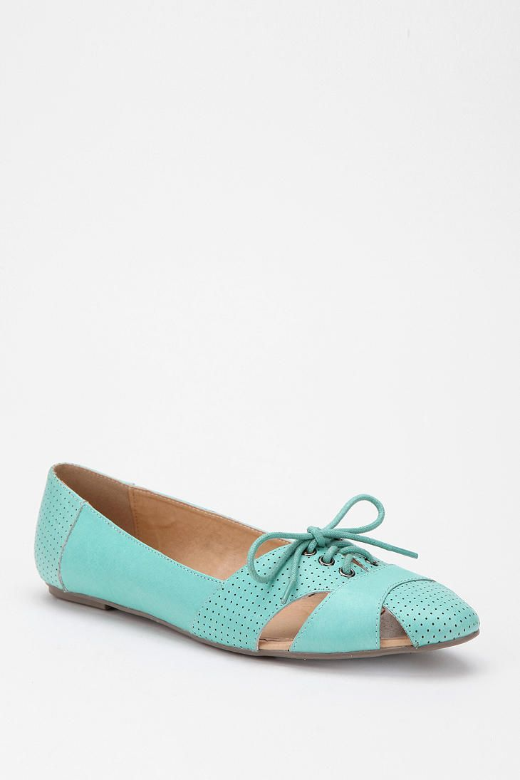 UrbanOutfitters.com > Cooperative Leather Lace-Up Skimmer