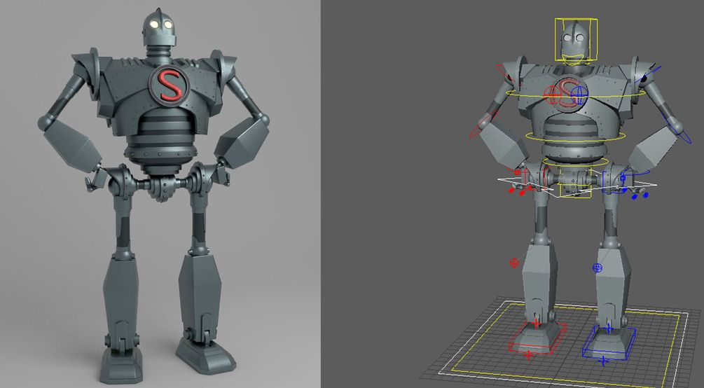 Iron Giant Rig in 2019 | Rigs | Rigs, Iron, Maya