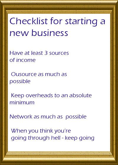 Checklist for starting a new business (don\u0027t forget to read the last - Fmla Form
