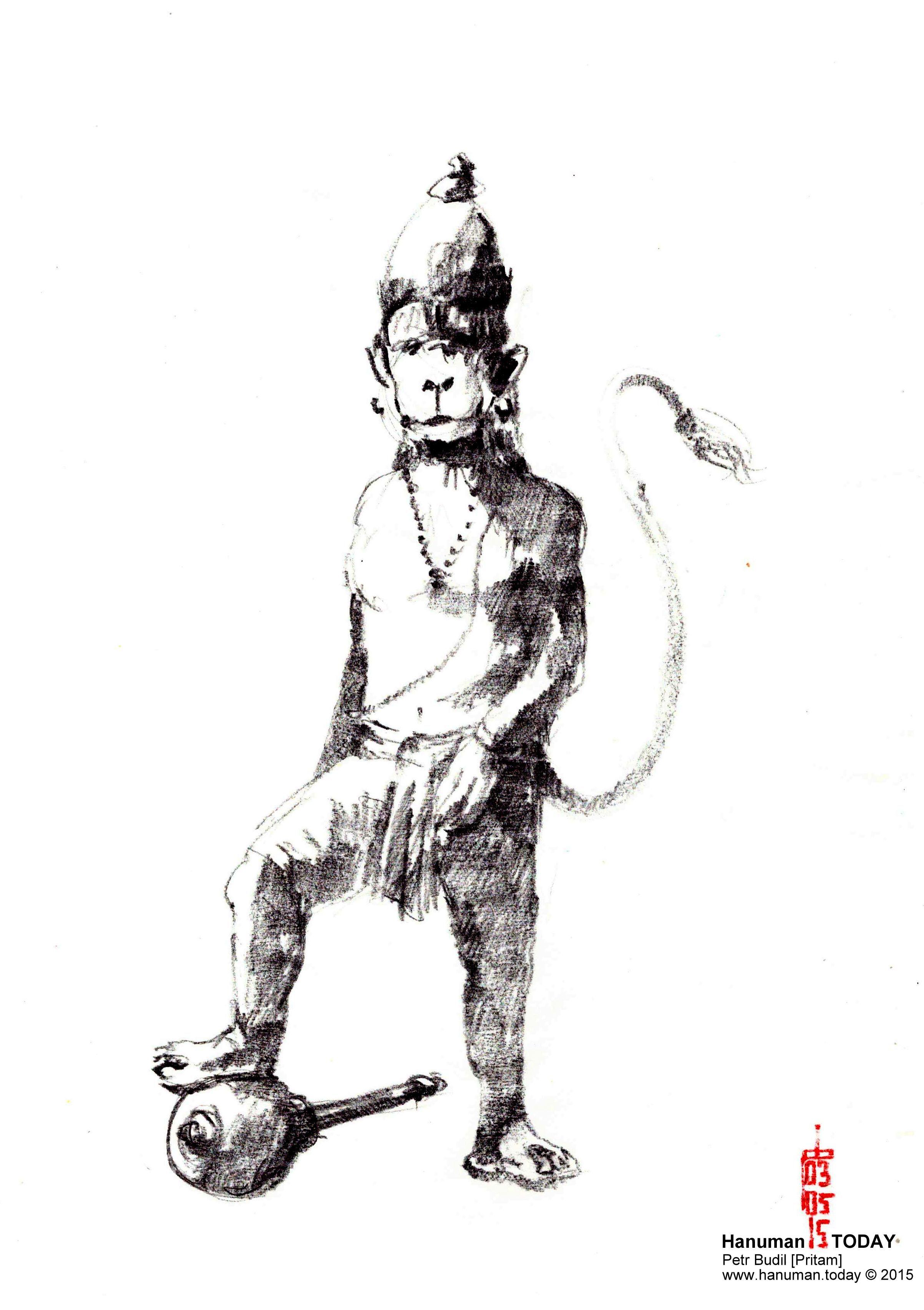 Sunday, May 3, 2015 | Hanuman, Daily drawing, Drawings