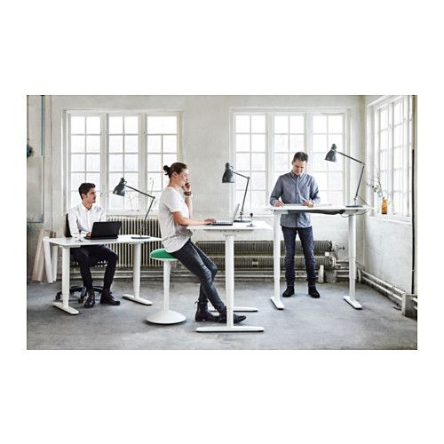 Bekant Desk Sit Stand White 160 X 80 Cm In 2019 Office