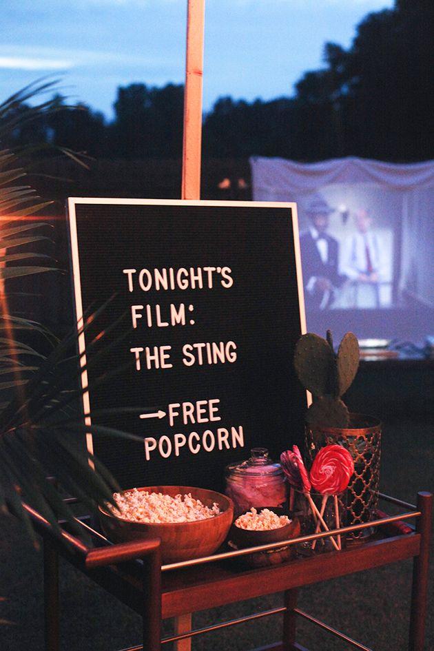 Backyard Movie Night In Honor Of Design Backyard Movie Party Outdoor Movie Party Backyard Movie Theaters