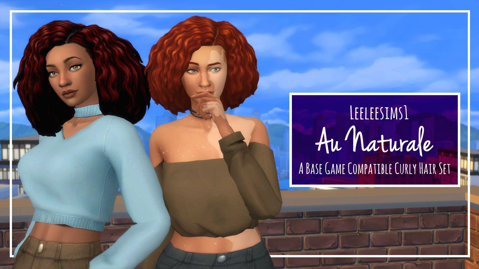 Simsworkshop: Au Naturale hair  - Sims 4 Hairs - http://sims4hairs.com/simsworkshop-au-naturale-hair/
