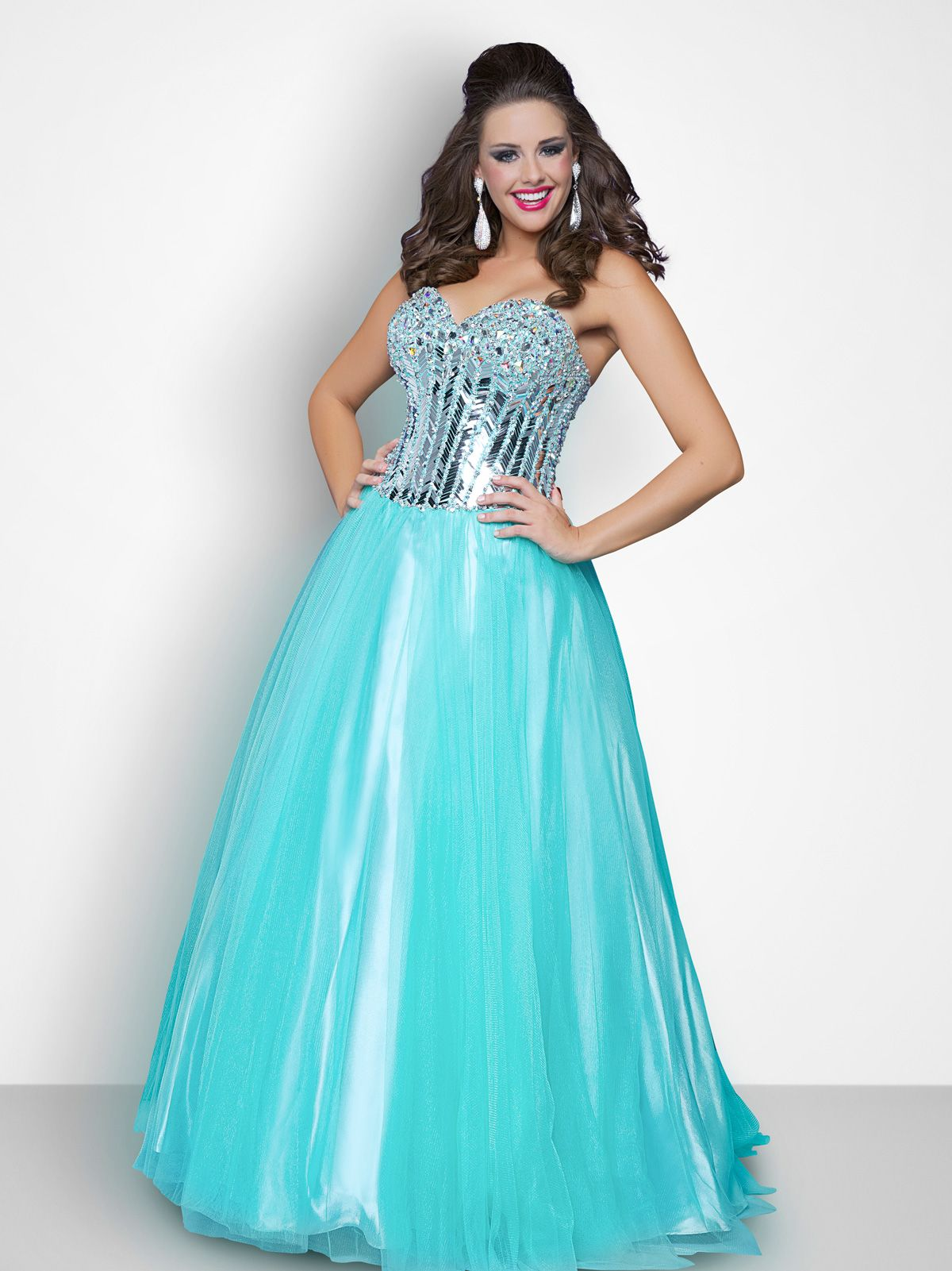 dfd3f1c29569 Shimmer and shine in the Blush plus size prom dress 117W! This beautiful strapless  ball gown features a heavily beaded sweetheart bodice with hand sewn ...