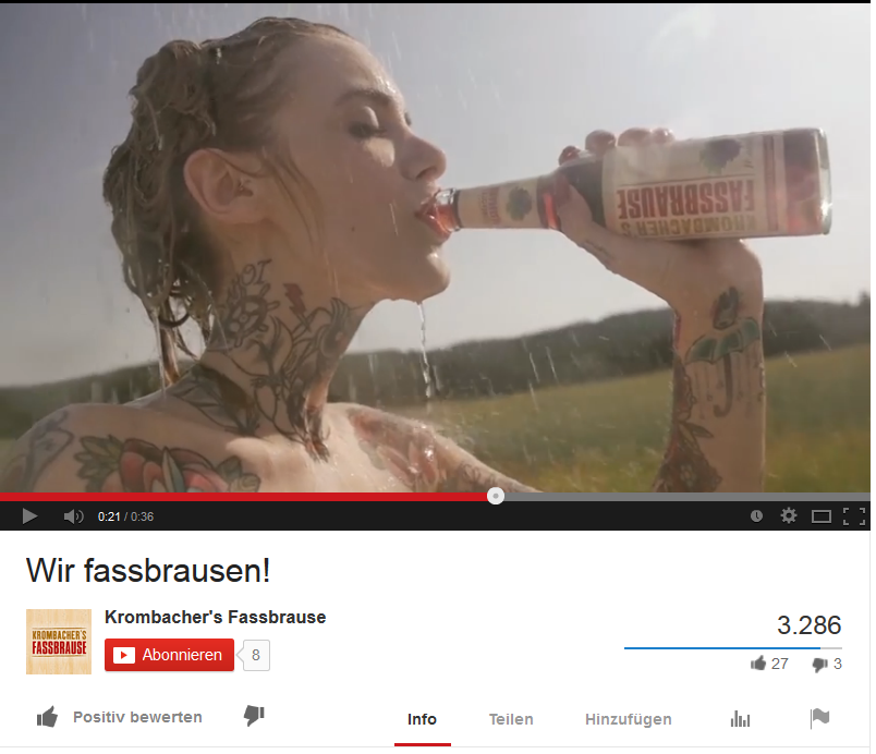 #fassbrausen #TattooModel #Sommer  https://www.youtube.com/watch?v=SliSnWQSBxQ