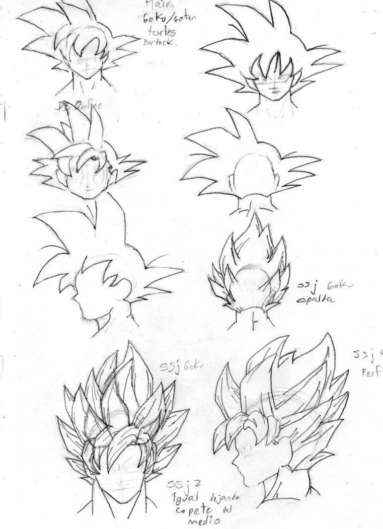 Goku Hair Positioning Tutorial Songokukakarot Dragon Ball Art Dragon Ball Super Art Dragon Ball Artwork