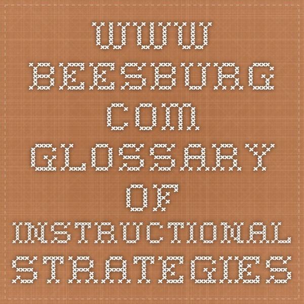 Beesburg Glossary Of Instructional Strategies Teacher