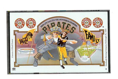 Iron City Beer Pgh Pirates 1979 World Series Flat Ebay