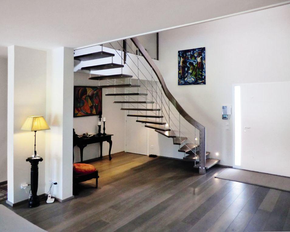 Escalier Contemporain En Bois Et Metal En 2020 Escalier