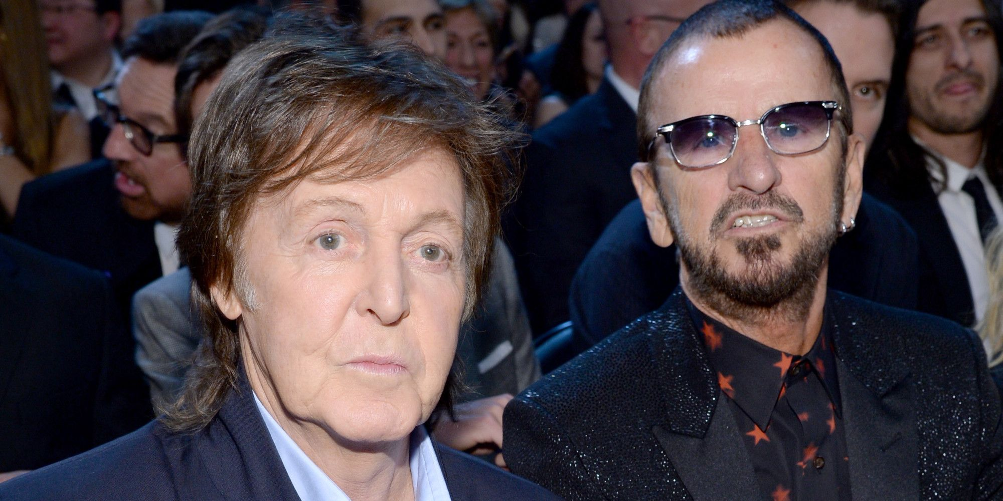 Paul McCartney Ringo Starr Reunite At The Grammys 26 January 2014