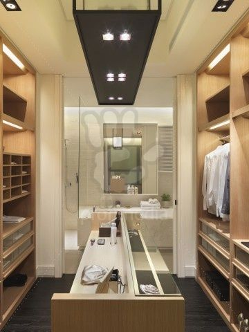 like the idea of a walk in closet leading to the master ...