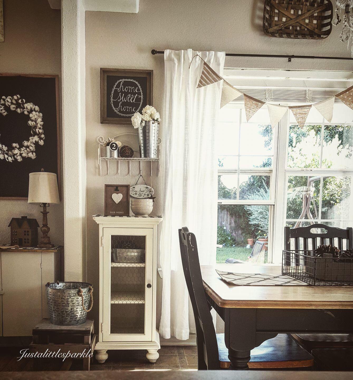 Small dining room idea farmhouse dining room rustic for Small dining room ideas pinterest